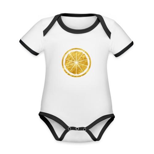 Seishinkai Karate Kamon in gold - Organic Baby Contrasting Bodysuit