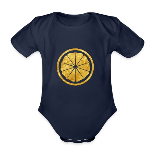 Seishinkai Karate Kamon in gold - Organic Short-sleeved Baby Bodysuit
