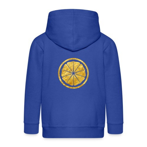 Seishinkai Karate Kamon in gold - Kids' Premium Zip Hoodie