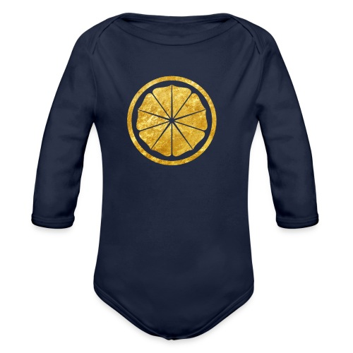 Seishinkai Karate Kamon in gold - Organic Longsleeve Baby Bodysuit