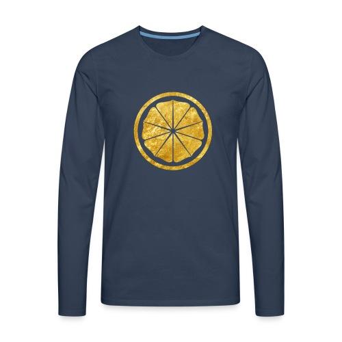 Seishinkai Karate Kamon in gold - Men's Premium Longsleeve Shirt