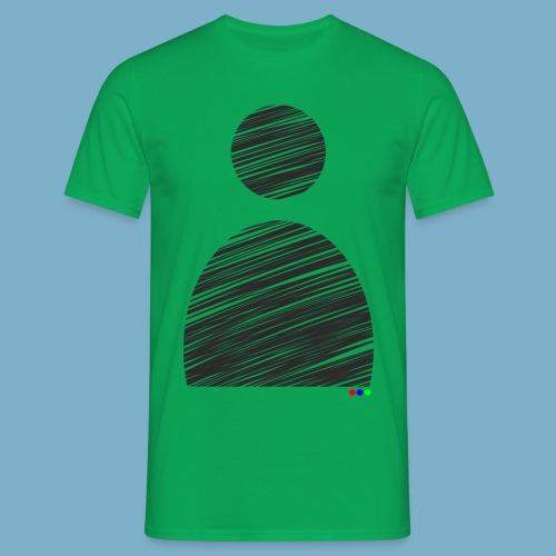 silhouette Mann - Männer T-Shirt