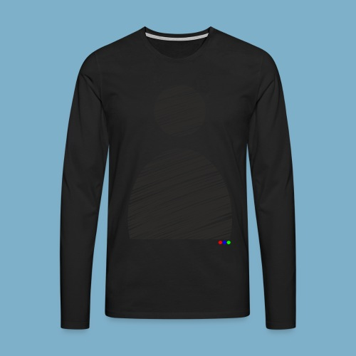 silhouette Mann - Männer Premium Langarmshirt