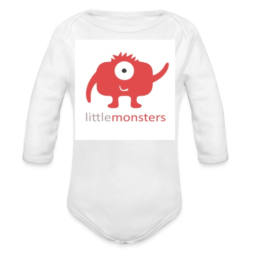 Little Monsters Baseball Tee - Organic Longsleeve Baby Bodysuit