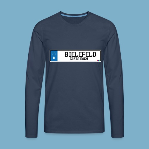 Bielefeld City Motiv Gibts doch - Männer Premium Langarmshirt