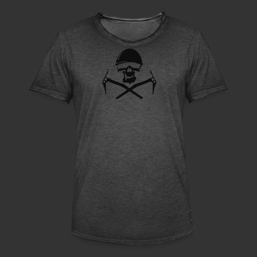 Climbing Skull - Männer Vintage T-Shirt