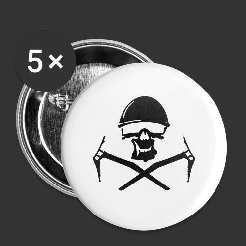 Climbing Skull - Buttons groß 56 mm