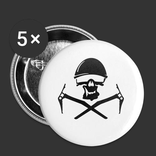 Climbing Skull - Buttons klein 25 mm