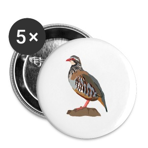 Rothuhn - Buttons groß 56 mm