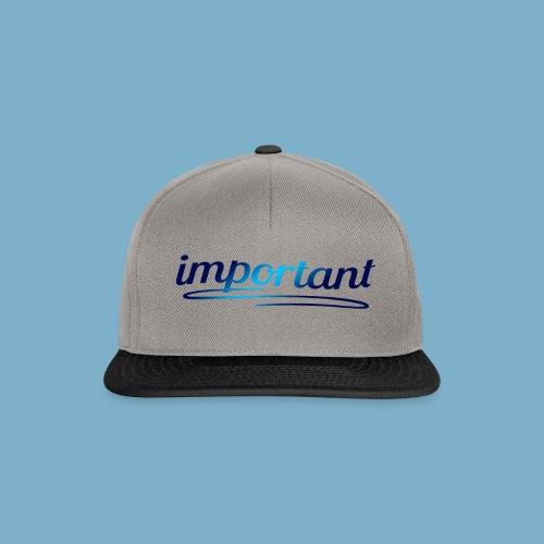 important - Snapback Cap