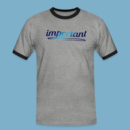important, sehr wichtige Person - Männer Kontrast-T-Shirt