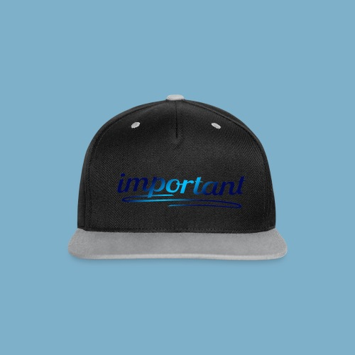 important, sehr wichtige Person - Kontrast Snapback Cap
