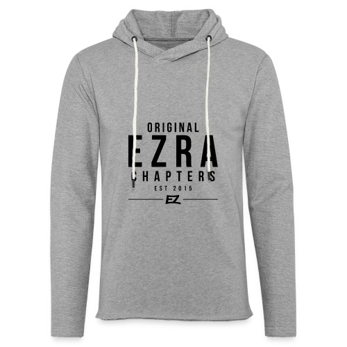 Ezra Hoodie Hipster -  Black - Light Unisex Sweatshirt Hoodie