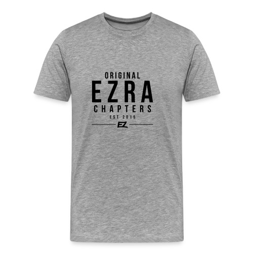 Ezra Hoodie Hipster -  Black - Men's Premium T-Shirt