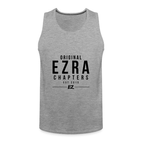 Ezra Hoodie Hipster -  Black - Men's Premium Tank Top