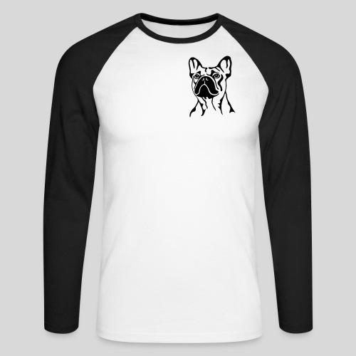 Französische Bulldogge - Männer Baseballshirt langarm