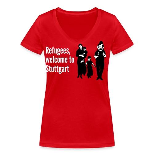 Refugees Shirt - Frauen Bio-T-Shirt mit V-Ausschnitt von Stanley & Stella