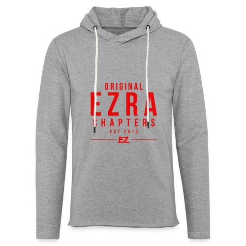 Ezra Hipster Hoddie - White On Red - Light Unisex Sweatshirt Hoodie
