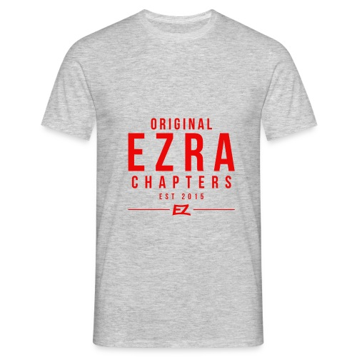 Ezra Hipster Hoddie - White On Red - Men's T-Shirt