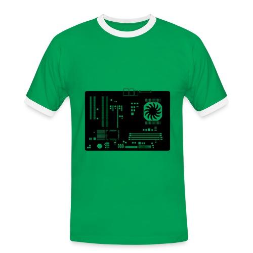 T Shirt Mainboard - Männer Kontrast-T-Shirt