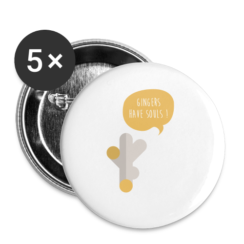 Gingers have souls! Bio Tasche - Buttons klein 25 mm (5er Pack)