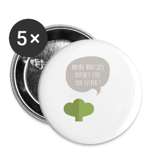 Broccoli doesn't like you! Bio Tasche - Buttons klein 25 mm