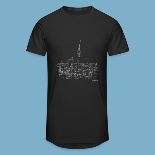 City Motic Berlin Zeichnung - Männer Urban Longshirt