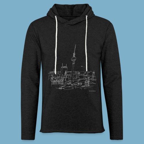 City Motic Berlin Zeichnung - Leichtes Kapuzensweatshirt Unisex