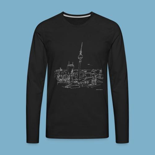 City Motic Berlin Zeichnung - Männer Premium Langarmshirt