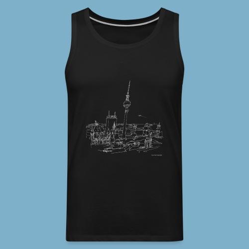 City Motic Berlin Zeichnung - Männer Premium Tank Top