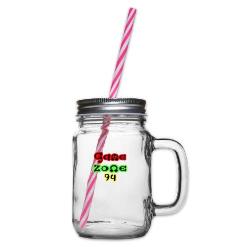 Tasse - Henkelglas mit Schraubdeckel