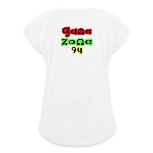 Tasse - Frauen T-Shirt mit gerollten Ärmeln