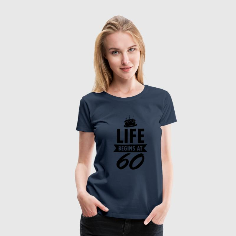 Life Begins At 60 T-shirts - Premium-T-shirt dam