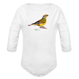 Citril Finch-bird-shirt - Baby Bio-Langarm-Body