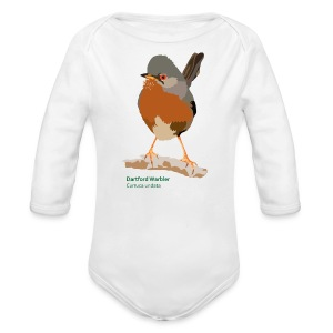 Dartford Warbler-bird-shirt - Baby Bio-Langarm-Body