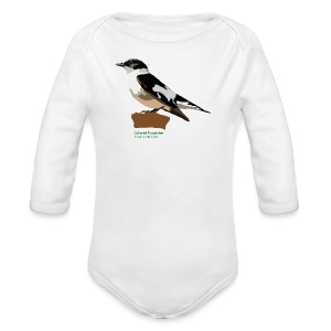Collared Flycatcher-bird-shirt - Baby Bio-Langarm-Body
