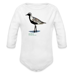 Grey Plover-bird-shirt - Baby Bio-Langarm-Body
