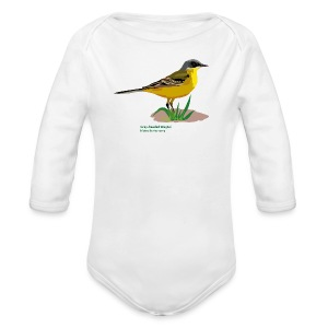 Grey-headed Wagtai-bird-shirt - Baby Bio-Langarm-Body