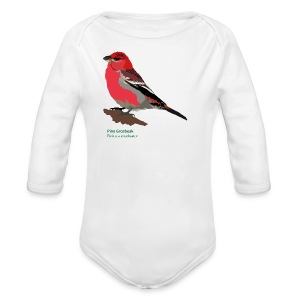 Pine Grosbeak-bird-shirt - Baby Bio-Langarm-Body