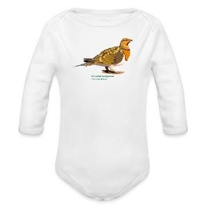 Pin-tailed Sandgrouse-bird-shirt - Baby Bio-Langarm-Body