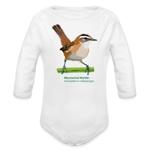 Moustached Warbler-bird-shirt - Baby Bio-Langarm-Body