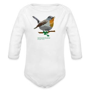 Red-breasted flycatcher-bird-shirt - Baby Bio-Langarm-Body