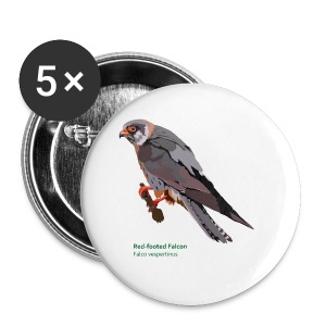 Red-footed Falcon-bird-shirt - Buttons klein 25 mm