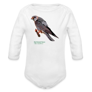 Red-footed Falcon-bird-shirt - Baby Bio-Langarm-Body