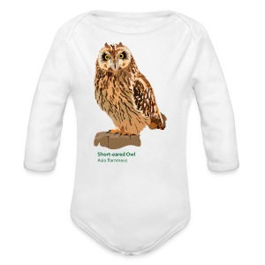 Short-eared Owl-bird-shirt - Baby Bio-Langarm-Body