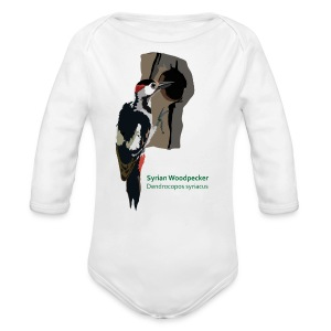 Syrian Woodpecker-bird-shirt - Baby Bio-Langarm-Body