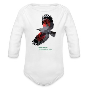Wallcreeper-bird-shirt - Baby Bio-Langarm-Body