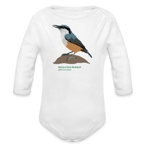 Western Rock-Nuthatch-bird-shirt - Baby Bio-Langarm-Body