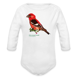 White-winged Crossbill-bird-shirt - Baby Bio-Langarm-Body