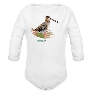 Agachadiza Real-bird-shirt - Baby Bio-Langarm-Body